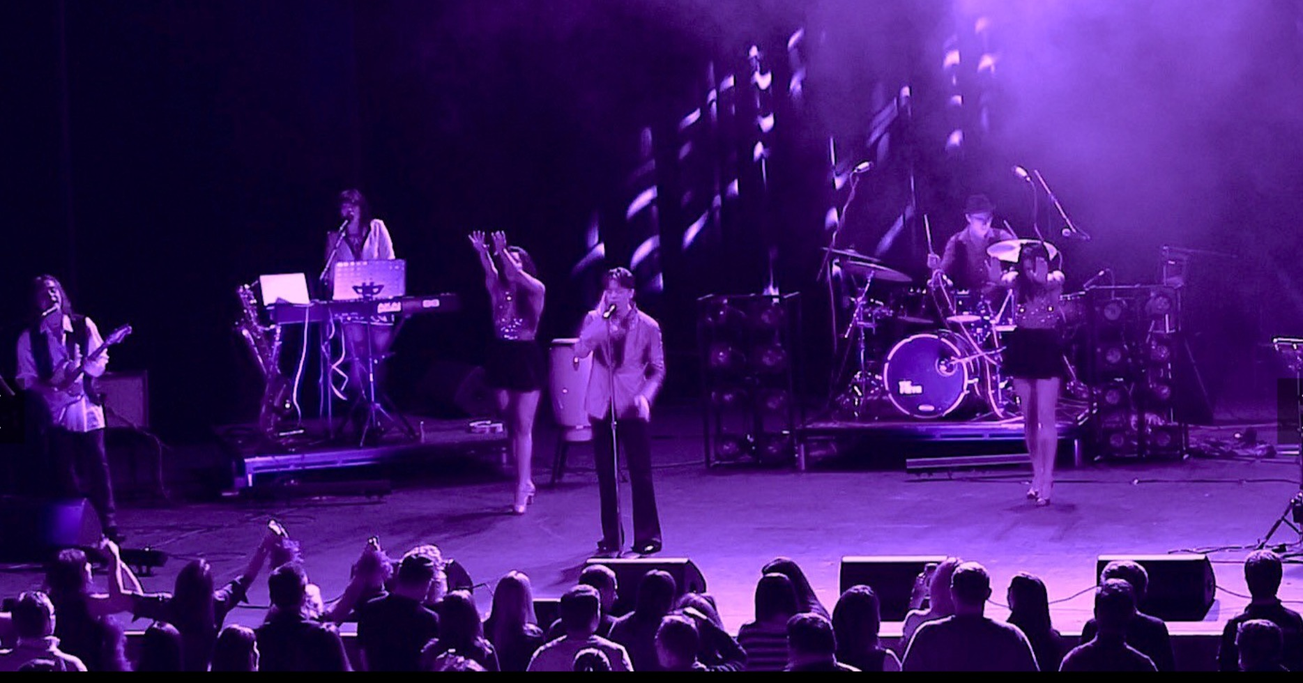 Prince` Live On Stage With His Band